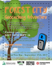 Forest City Geocaching Adventure - Poster Design