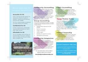 Family Service Thames Valley - Brochure Design (reverse)