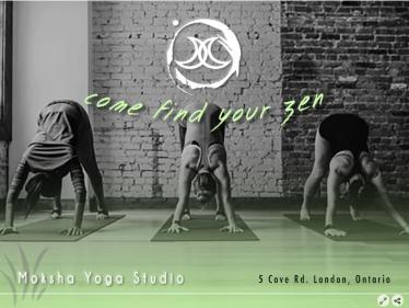 Moksha Yoga Studio - Graphic Promotion Assignment