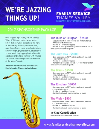 Jazzing Things Up - Sponsorship Package