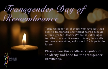 Transgender Day of Remembrance - Social Media Campaign